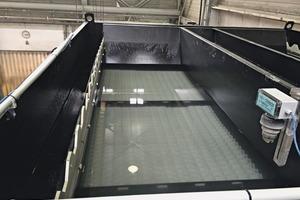 """<div class=""""bildtext"""">4 Gereinigtes Prozesswasser bei Jogerst Steintechnologie aus dem Leiblein Vakuumbandfilter • Cleaned process water at Jogerst Steintechnologie from the Leiblein vacuum belt filter</div>"""