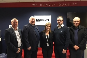 From left to right: Dale Lockley (SAMSON Managing Director), Richard Wynn (Trainee Auditor, Alcumus ISOQAR), Emma Barton (SAMSON HR Manager and ISO Compliance), Daren Basson (Auditor, Alcumus ISOQAR) and Peter Jones (Quality Consultant)