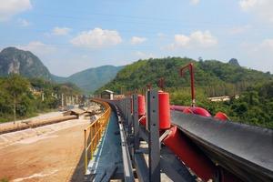 """<div class=""""bildtext"""">1Für den thailändischen Zementhersteller TPI Polene Public Company lieferte BEUMER u.a. einen horizontalkurvengängigen Muldengurtförderer mit einer Länge von 3,5km • Among other things, BEUMER supplied a troughed belt conveyor with horizontal curves and a length of 3.5km for the Thai cement producer, the TPIPolene Public Company</div>"""