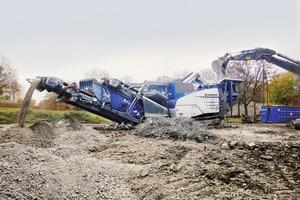 """<div class=""""bildtext"""">3Mit der Prallbrechanlage MR 110 Z EVO2 kann eine hohe Leistung in Naturstein- und Recyclinganwendungen erzielt werden<br />The impact crusher MR 110 Z EVO2 can achieve a high output in natural stone and recycling applications</div>"""