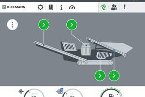 """<div class=""""bildtext"""">4Das neue Steuerungskonzept SPECTIVE erleichtert die Bedienung von Brechanlagen und ist intuitiv über ein Touchpanel bedienbar<br />The new control concept SPECTIVE facilitates the operation of crushing plants and can be operated intuitively via a touch panel</div>"""