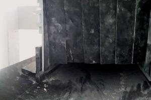 """<div class=""""bildtext"""">3 Staubvorhänge verlangsamen den Luftstrom und reduzieren die Emission flüchtiger Partikel • Dust curtains slow down the air flow and reduce fugitive particle emissions</div>"""