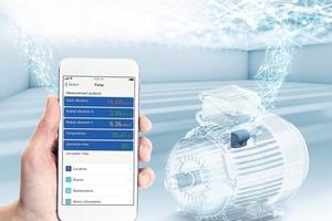 """<div class=""""bildtext"""">Echtzeit-Überwachung von Elektromotoren über eine intelligente Geräte-App • The WEG Motor Scan enables real-time monitoring of electric motors in a cost-efficient way via a smart device app</div>"""