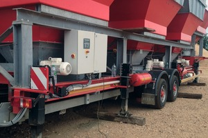Der Reihendoseur RD-700 ist auch radmobil lieferbar # The RD-700 aggregate blender can also be supplied on wheels