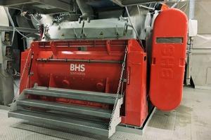 """<div class=""""bildtext"""">1BHS Trockenstoff-Chargenmischer vom Typ DMX 4900 im Werk Nord in Wopfing<br />BHS dry powder batch mixer of type DMX 4900 at the Wopfing North Plant </div>"""
