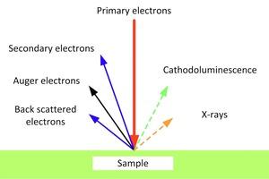 """<div class=""""bildtext"""">10 Signalarten der Elektronen [29] • Electron signal types [29] </div>"""