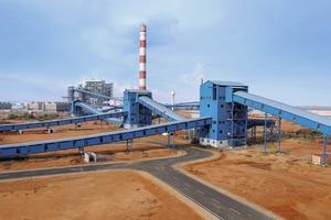 """<div class=""""bildtext"""">1 Kohleversorgungsanlage von thyssenkrupp • thyssenkrupp coal handling system</div>"""