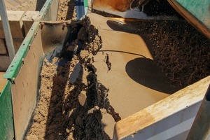 """<div class=""""bildtext"""">Resolve Aggregates: Nahaufnahme von gewaschenem Sand auf einem Sieb # Resolve Aggregates: close up of washed sand on screen</div>"""