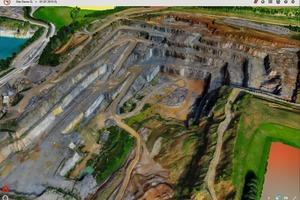 """<div class=""""bildtext"""">5 3D-Ansicht des Steinbruchs • 3D view of a quarry</div>"""