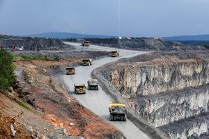 """<div class=""""bildtext"""">Aitik Kupfer-Tagebaumine in Schweden • Aitik open pit copper mine in Sweden </div>"""