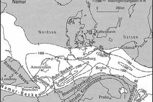 """<div class=""""bildtext"""">5 Schichtmächtigkeiten im Namur und Westfal [9, S. 27] # Stratum thicknesses in the Namurian and Westphalian [9, p. 27]</div>"""