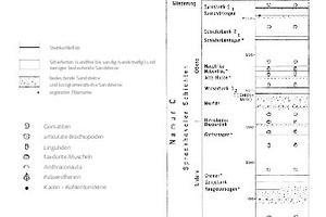 "<div class=""bildtext"">12a Stratigraphie und Flöze [16, S. 120] • Stratigraphy and seams [16, p. 120] </div>"