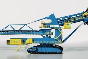 Neu entwickelter thyssenkrupp barracuda-Schaufelradbagger • Newly developed thyssenkrupp barracuda bucket wheel excavator