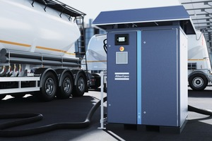"""<div class=""""bildtext"""">Die neuen ZE-3-S-Niederdruckkompressoren von Atlas Copco eignen sich zum Entladen von Schüttgut aus Lkw-Tanks sowie andere Förderzwecke</div><div class=""""bildtext"""">Atlas Copco's new ZE 3 S low-pressure compressors are suitable for unloading bulk materials from truck tanks and for other conveyor applications</div>"""