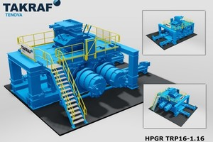 """<div class=""""bildtext"""">Scale model of a High Pressure Grinding Roll (HPGR)</div>"""