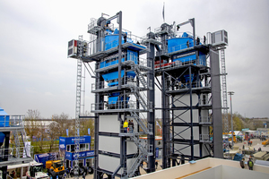 6 Benninghoven unveiled a world premiere at the Bauma trade show this year: its TBA asphalt mixing plant is now available for the first time with a hot gas generator