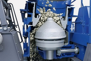 "<div class=""bildtext"">Es gibt eine Vielzahl an Variablen, die die Brechleistung eines Kegelbrechers beeinflussen # There are a large number of variables that influence the crushing capacity of a cone crusher</div>"