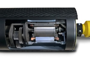 """<div class=""""bildtext"""">7 Der neue TM400 Trommelmotoren von Rulmeca ist dank optimierter Komponenten nochmals deutlich energieeffizienter und robuster geworden # Thanks to optimised components, Rulmeca's new TM400 motorised pulleys have again been made significantly more energy-efficient and robust</div>"""