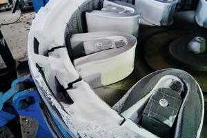 """<div class=""""bildtext"""">2 BHS-Sonthofen führte mehrere Brech- und Mahlversuche mit der Rotorprallmühle vom Typ RPM durch, um die Zerkleinerung von Ammoniumsulfat zu testen • BHS-Sonthofen performed numerous crushing and grinding tests with the RPM rotor impact mill in order to experiment with the process of crushing ammonium sulfate</div>"""