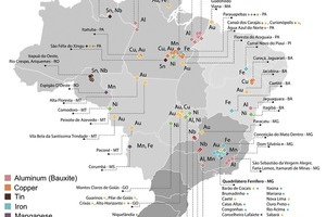 """<div class=""""bildtext"""">3 Minenkarte für Brasilien • Map of Brazilian mines</div>"""