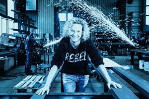"""<div class=""""bildtext"""">1 Berit Müller, Geschäftsführerin der August Müller GmbH &amp; Co. KG • Berit Müller, Managing Director of August Müller GmbH &amp; Co. KG</div>"""