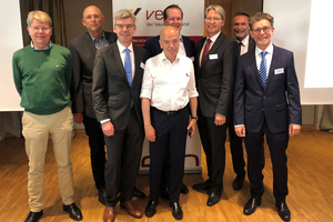 vero-Vorstandsmitglieder (v.l.n.r.): Dirk Wegener, Carsten Simme, Sven Fischer, Michael Weber, Robert Lindemann-Berk, Christian Strunk, Raimo Benger, Thilo Juchem  Quelle: vero