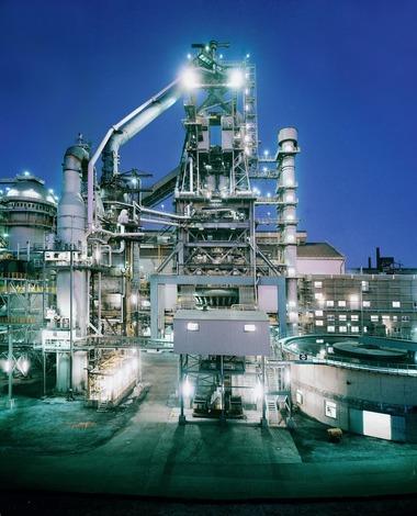 "<div class=""bildtext"">2 Hochofen 5 der ROGESA • ROGESA's blast furnace 5</div>"