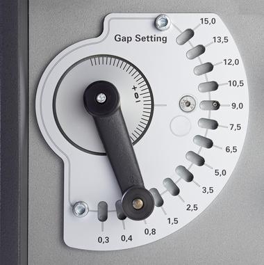 Millimetergenaue Nullpunkt- und Mahlspalteinstellung