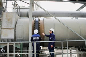 """<div class=""""bildtext"""">1 Allgaier Drehrohr zum Trocken und Kühlen von Mineralstoffen • Allgaier rotary drum for drying and cooling minerals</div>"""