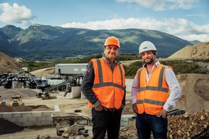 "<div class=""bildtext"">3 CEO Jérôme Pélichet (links) und Marc Sopransi, Business Development Manager, CDE am Standort Chauvilly • CEO Jérôme Pélichet (left) and Marc Sopransi, Business Development Manager at CDE at the Chauvilly site</div>"