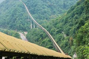 "<div class=""bildtext"">2 Sichuan project: The troughed belt conveyor runs through rough terrain and over instable ground</div>"