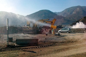 """<div class=""""bildtext"""">1 Spray cannon in the quarry</div>"""