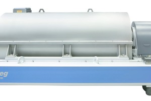 """<div class=""""bildtext"""">1 The Flottweg decanter Z92 is one of the largest horizontal centrifuges and, thanks to its high throughput, is ideal for use in mining</div>"""