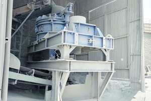 """<div class=""""bildtext"""">1 The rotor impact mill from BHS-Sonthofen is at the core of the sand processing system</div>"""