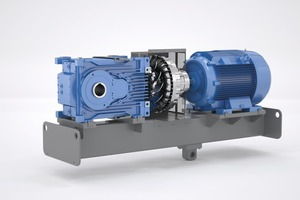 """<div class=""""bildtext"""">The 2-stage MAXXDRIVE<sup>®</sup> XT right-angle gear units were specially designed for applications that require low speed ratios in combination with high powers</div>"""