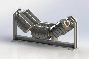 """<div class=""""bildtext"""">1 Belt conveyor rollers of a belt conveyor system</div>"""