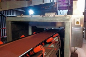 "<div class=""bildtext"">1 GEOSCAN-S on sinter feed conveyor in European steel plant</div>"