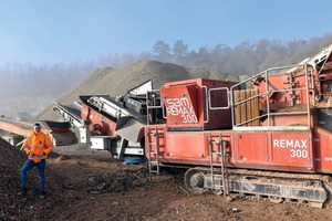 """<div class=""""bildtext"""">2 The track-mounted Moerschen MF20/90K stockpile conveyor provides the desired additional range for stockpiling in everyday operation</div>"""
