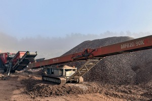 """<div class=""""bildtext"""">1 The compact impact crusher operates in a confined space at the Hünfeld-Roßbach site and ensures the best end products</div>"""