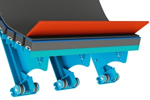 """<div class=""""bildtext"""">3 Rubber or polyurethane skirting is clamped either on the loading point or along the entire length of the belt</div>"""