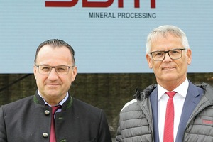 """<div class=""""bildtext"""">The management of SBM Mineral Processing with Reinhard Haider (left) and Erwin Schneller</div>"""