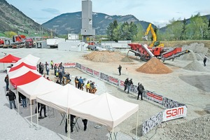 """<div class=""""bildtext"""">The extensive testing area at the MFL plant in Liezen offered plenty of space for meaningful live demos of the new SBM mobile crushers</div>"""