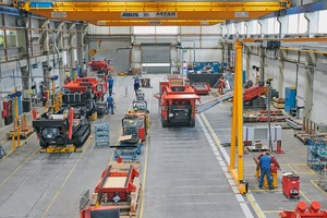 """<div class=""""bildtext"""">SBM wants to """"ramp up"""" its mobile plant production in Liezen to around 100 units as early as 2021. Depending on the model (30 – 60 t), the assembly time of a plant is 4 to 6 days</div>"""