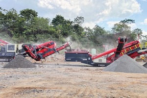 """<div class=""""bildtext"""">1 Sandvik QI442 HS and QA335 Doublescreen as the ideal combination for Hunan Yan Run Construction Engineering's diverse requirements</div>"""