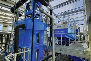 """<div class=""""bildtext"""">2 RotoMax, part of the AggMax (right) and CFCU EvoWash (left) systems process highly variable feed material into high-value materials for a variety of applications</div>"""