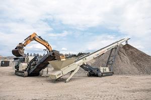 """<div class=""""bildtext"""">6 Der Betrieb nutzt für die mobilen Brechprozesse auf dem Recyclinggelände zunehmend Nordtrack Anlagen, unter anderem auch das mobile Haldenband CT24 </div>"""