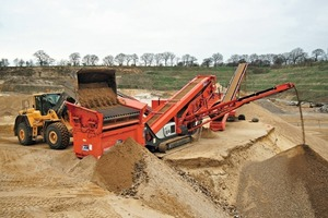 1 Mit Stundenleistungen von durchschnittlich 350&nbsp;t/h überzeugt die Sandvik&nbsp;QA340 in der 0/2-Füllsand-Produktion bei Kieswerk Lucht • With average outputs of 350&nbsp;t/h, the Sandvik&nbsp;QA340 is convincing in the production of filling sand of 0/2 at the Lucht gravel works<br />