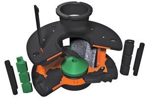 """<div class=""""bildtext"""">2Hauptkomponenten der neuen Orange Rotors, entwickelt für die Barmac Vertikal-Prallbrecher von Metso • Main components of the new Orange rotor, designed for Metso's Barmac VSI crushers</div>"""