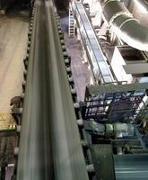 A conveyor belt to transport coal at the Prosper-Haniel mine