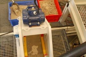 Versuche mit einem Entwässerungssieb im HAVER &amp; BOECKER Nasstechnikum<br />